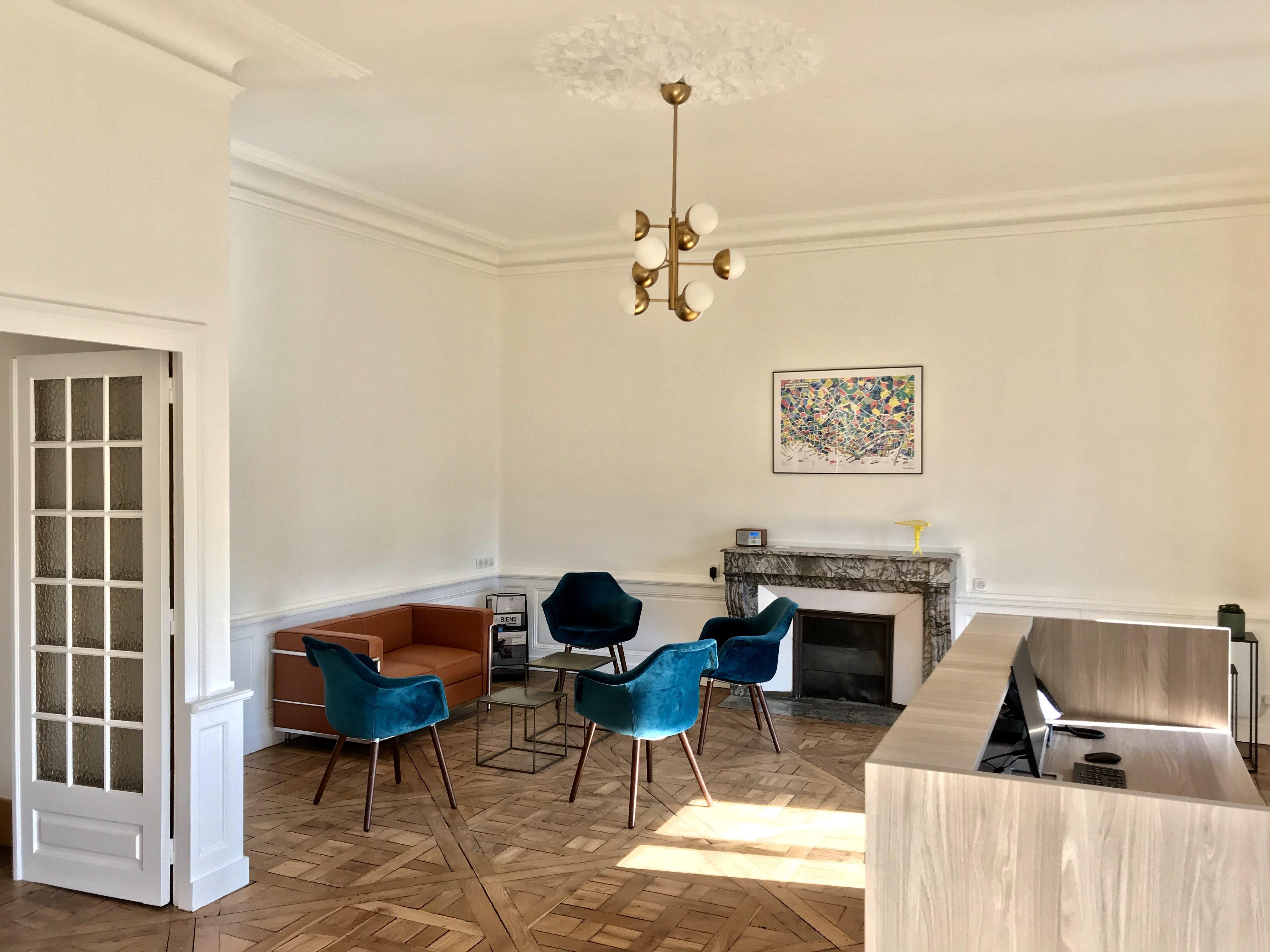 Salle d'attente de l'étude de Me Romain MAGANA Notaire à Nantes