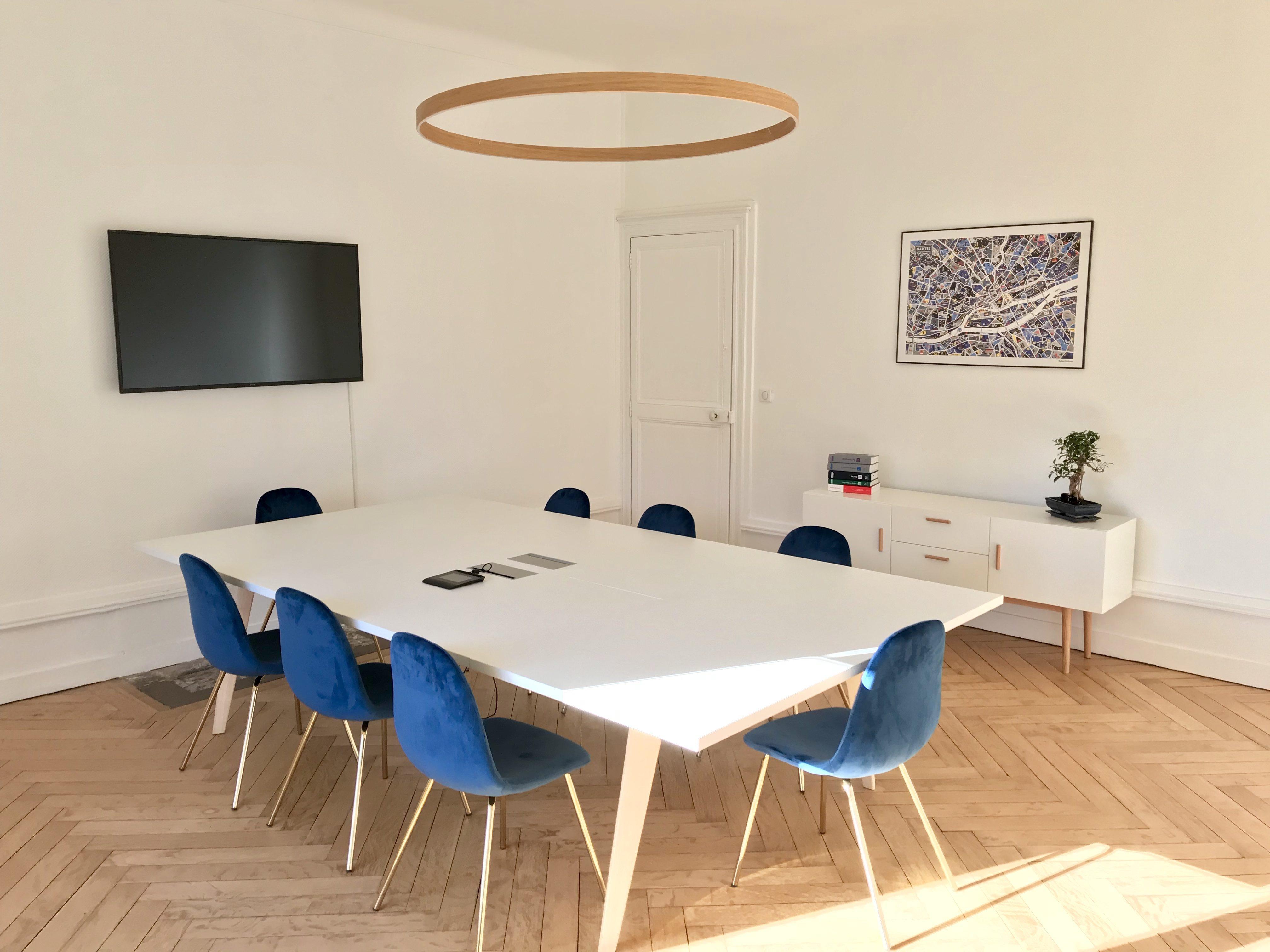 Salle de signature et réception de l'étude de Me Romain MAGANA Notaire à Nantes